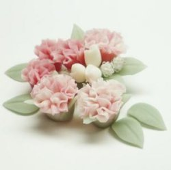 """Photo3: Clay Art Bead set """"Carnation""""pink color"""